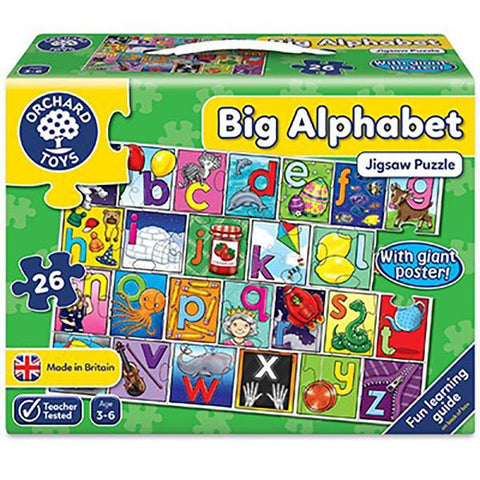 Orchard Toys | Orchard toys Big Alphabet Puzzle | Board games | Lucas loves cars