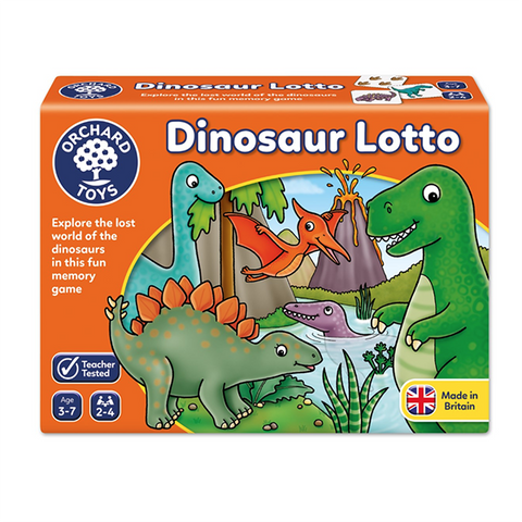 Dinosaur Lotto | orchard toys |  Lucas loves cars