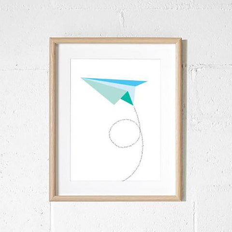 Paper Plane Wall print | sprout and Sparrow | Lucas loves cars