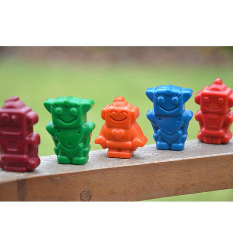 Robot crayons for todders | Natural wax crayons | Eco toys | Lucas loves cars