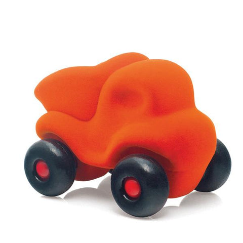 Rubbabu sensory toy little orange dump truck | car toy store | lucas loves cars