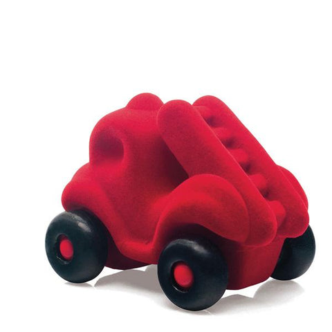 Rubbabu sensory toy little red fire truck | car toy store | lucas loves cars