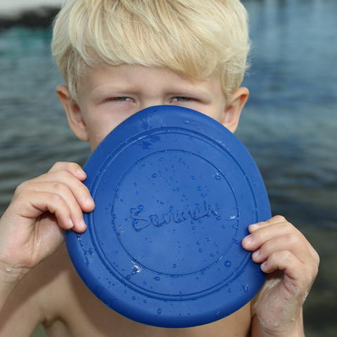 Scrunch Frisbee Flyer Midnight Blue | Scrunch Beach toys | Lucas loves cars