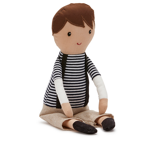 Sebastian boy soft cloth doll | Lucas loves cars