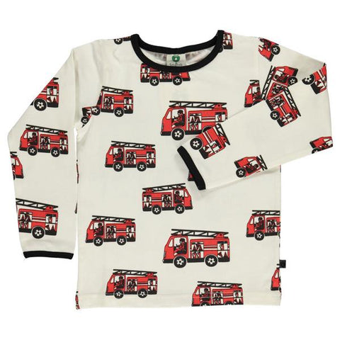 Smafolk organic cotton top | Fire trucks | Lucas loves cars
