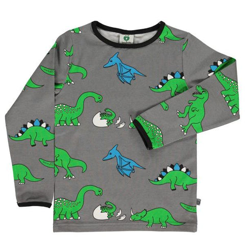 Smafolk organic cotton top | Dinosaur clothes | Lucas loves cars