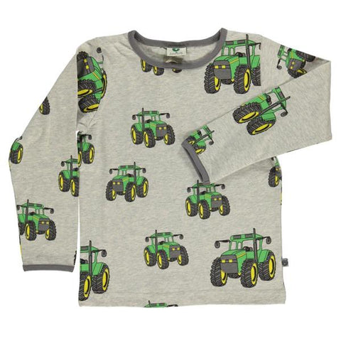 Smafolk organic cotton top | GReen Tractors | Lucas loves cars