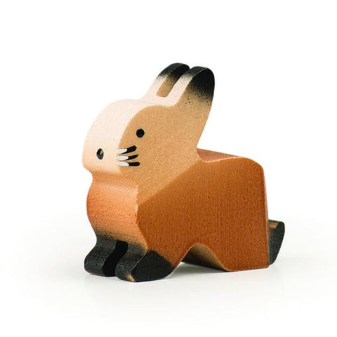 Trauffer Rabbit Brown | Wooden animal toys | hand made toys | lucas loves cars