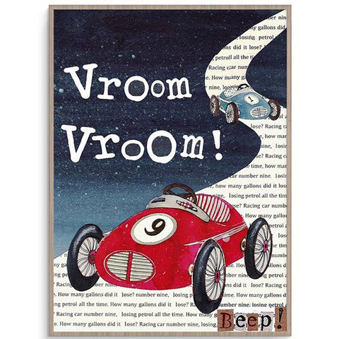 Vroom Car Wall Print | Lucas loves cars