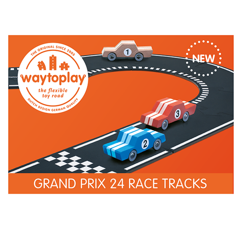 WAYTOPLAY roads |  24 piece Grand Prix |  Play race track | Lucas Loves Cars