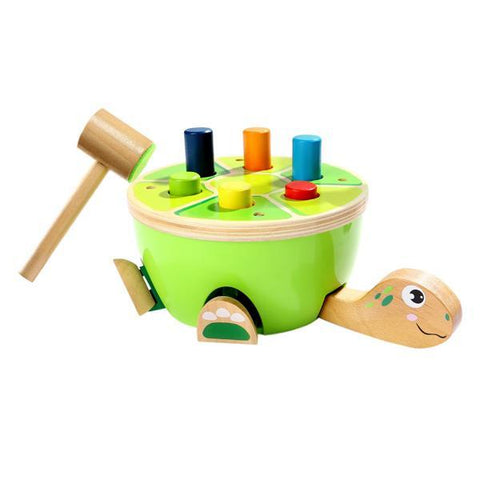 Turtle Smackaroo  | Wooden Hammer toy | Discoveroo | Lucas loves cars