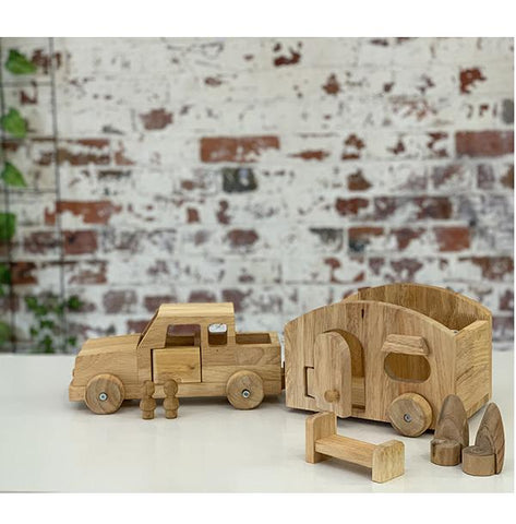 Wooden camper van and car | Eco toys | Lucas loves cars