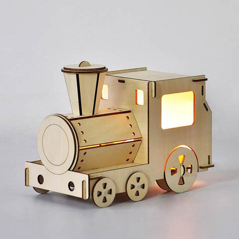 Wooden Train light | Lucas loves cars