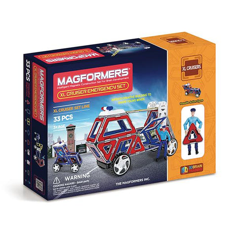 MAgformers XL Emergency | Emergency cars toys | Lucas loves cars