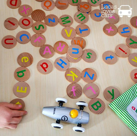 Alphabet Matching Pairs  | Alphabet toys | Freckled frog | Lucas loves cars