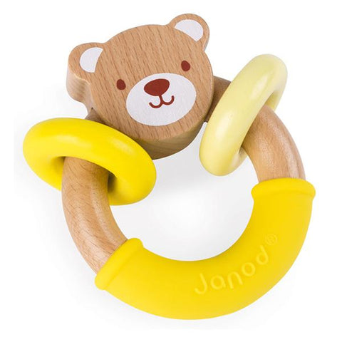 Baby bear wooden rattle | Baby gifts and toys | Lucas loves cars