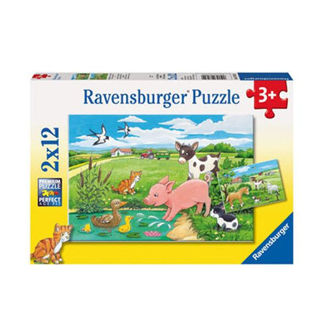 Ravensburger puzzles | Baby farm animals | Kids jigsaws | Lucas loves cars