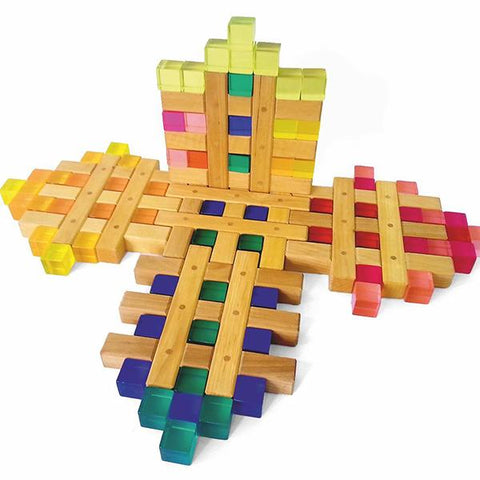 Bauspiel | Wooden grids |  Wooden block set | Lucas loves cars
