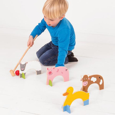 Big Jigs Farm Animals Croquet | Kids Croquet Wooden set | Farm toys | Lucas loves cars