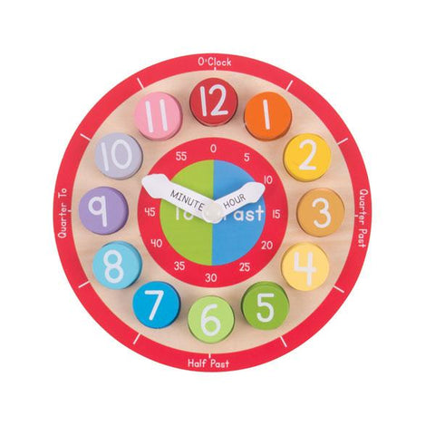 BigJigs Teaching Clock | learn the time | Wooden toys | Lucas loves cars