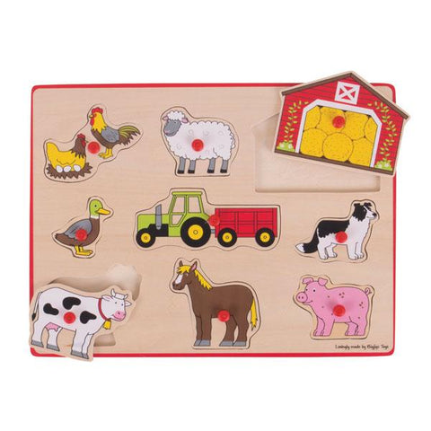 BigJigs farm animals puzzle | Wooden farm  toys | Lucas loves cars