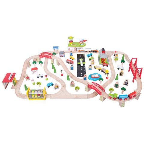 BigJigs Rail | Transportation Wooden Train set | Wooden toys | Lucas loves cars