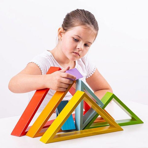 Wooden Stacking Triangles | Big Jigs Australia | Lucas loves cars