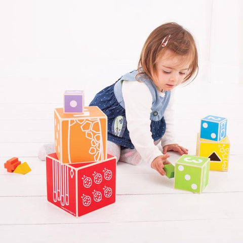 BigJigs stacking boxes | Wooden toys | Lucas loves cars