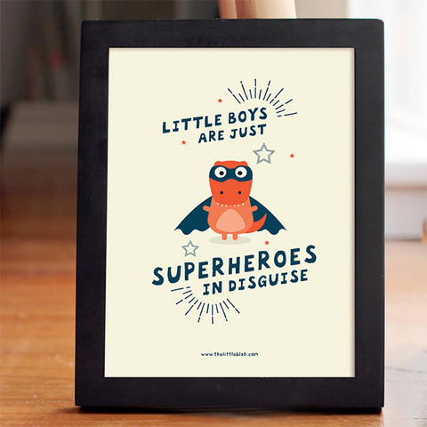 Little Blah superhero print | Lucas loves cars