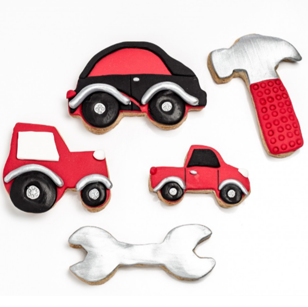 boys tools biscuit cutters lucas loves cars