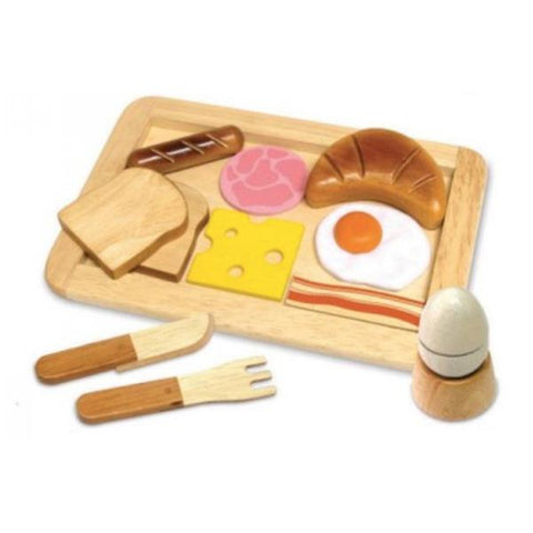 Wooden breakfast toy set | Im Toy | Wooden toys | Lucas loves cars