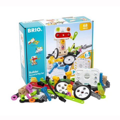Brio Builder Record Play Set | Brio toys | Lucas Loves Cars