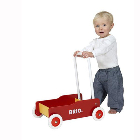 Brio Toddler Wobbler|  Brio toys | Wooden cart | Lucas Loves Cars