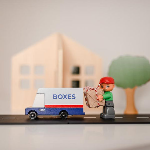 Candylab mail truck  | Candylab toy cars  | Delivery van toy | Lucas loves cars