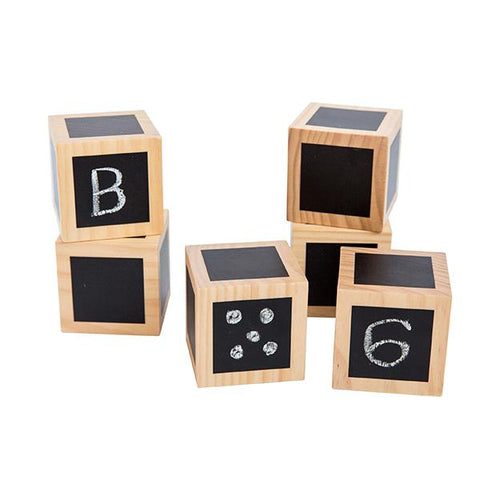 Chalk Board Wooden Cubes  | Freckled Frog | Lucas loves cars