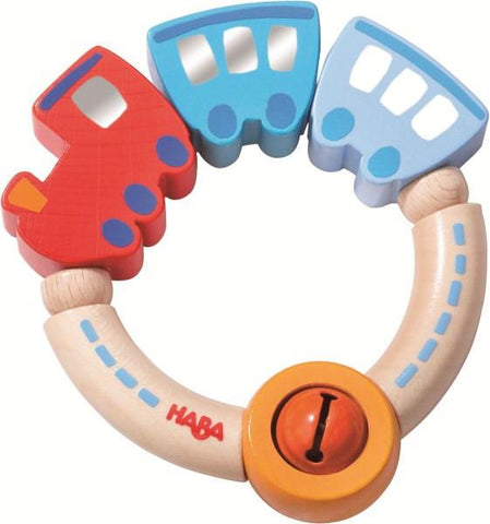 Train wooden teether HABA | Lucas loves cars
