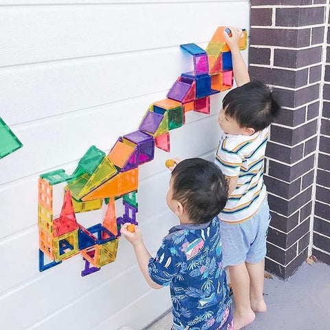 Connetix Tiles 100 piece | Magnetic magnetic tiles | stem toys | Lucas loves cars