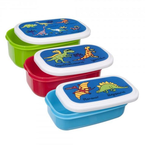 Dinosaur snack boxes  - set of 3