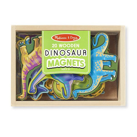 Melissa and Doug | Wooden dinosaur magnets | Lucas loves cars