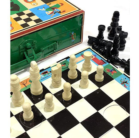 Kids chess and checkers | Djeco toys |  Lucas Loves Cars