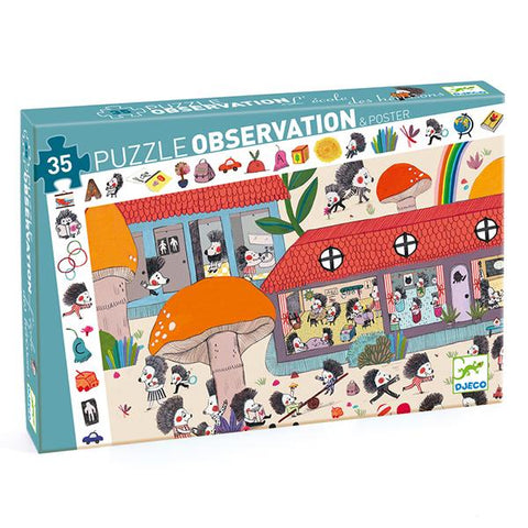 Djeco Observation Puzzle School | Jigsaws for kids | Lucas loves cars