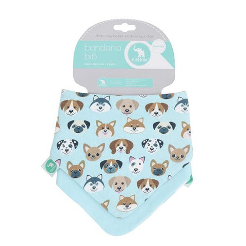 Dog lovers  Cotton Bandana Bib | Baby gift | Lucas loves cars