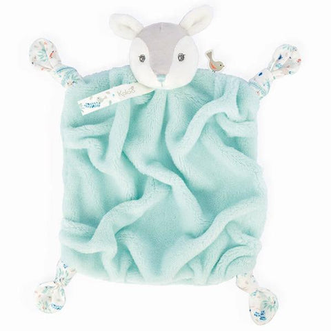 Kaloo Doudou Fawn Aqua | gender neutral baby gift | Lucas loves cars