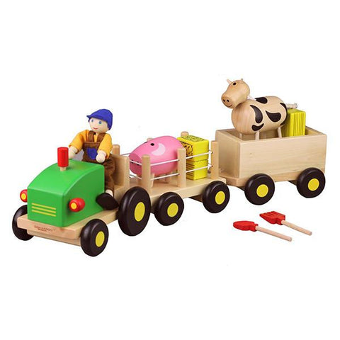 Wooden Farm Tractor | Discoveroo |  Lucas loves cars