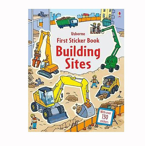 First Sticker book Building sites | Construction trucks | Lucas loves cars