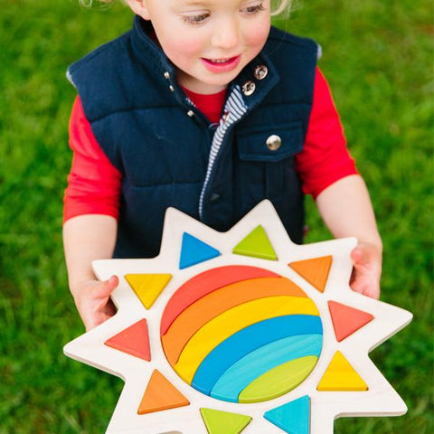 Wooden Sun puzzle | Freckled Frog  | Wooden toys | Lucas loves cars