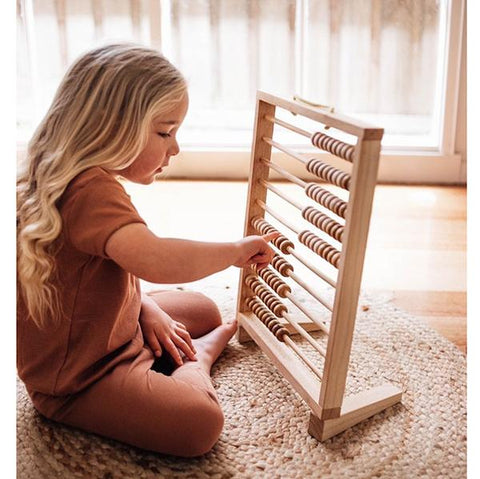 Giant wooden abacus | montessori toys | Qtoys | Lucas loves cars