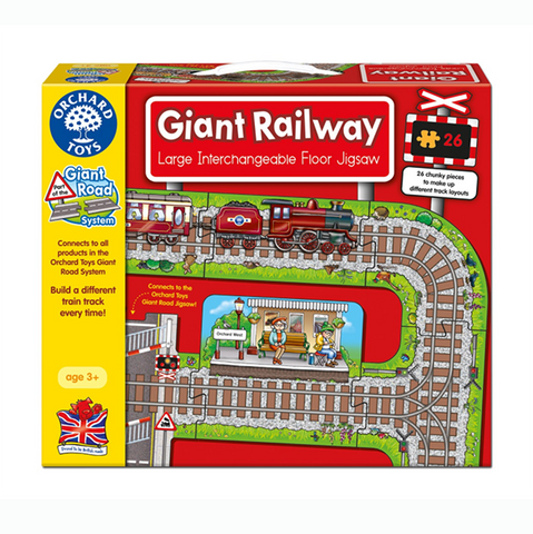 Giant Railway Jigsaw | Orchard toys |  Lucas loves cars