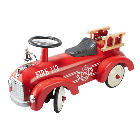 Goki Ride on Fire Engine | Lucas loves cars