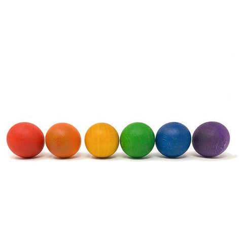 Rainbow wooden balls | Grapat wooden toys | Large Wooden balls | Lucas loves cars